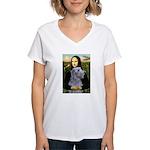Mona /Scot Deerhound Women's V-Neck T-Shirt