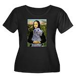 Mona /Scot Deerhound Women's Plus Size Scoop Neck
