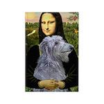 Mona /Scot Deerhound Rectangle Magnet