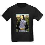 Mona /Scot Deerhound Kids Dark T-Shirt