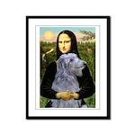 Mona /Scot Deerhound Framed Panel Print