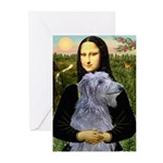 Mona /Scot Deerhound Greeting Cards (Pk of 20)