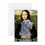 Mona /Scot Deerhound Greeting Cards (Pk of 10)