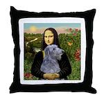 Mona /Scot Deerhound Throw Pillow