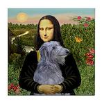 Mona /Scot Deerhound Tile Coaster