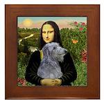Mona /Scot Deerhound Framed Tile