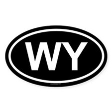 WY Oval Decal