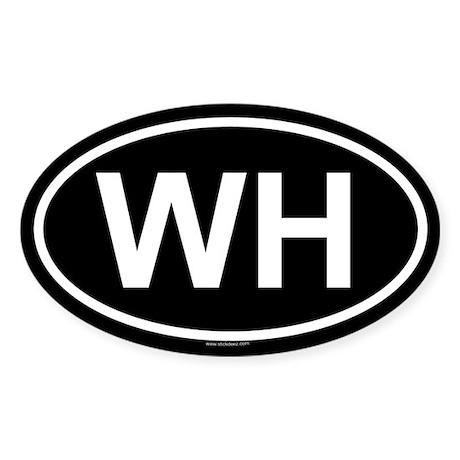WH Oval Sticker