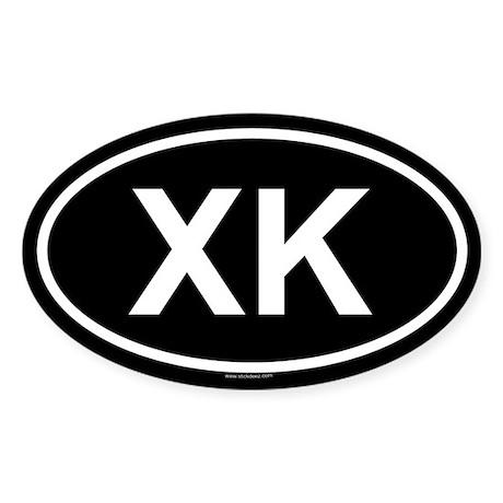 XK Oval Sticker