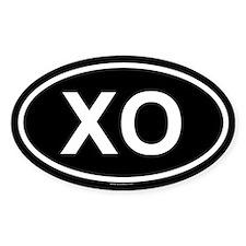 XO Oval Decal