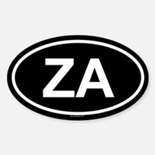 ZA Oval Decal