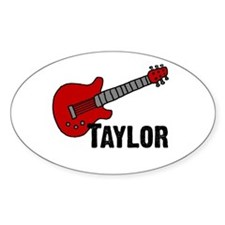 Guitar - Taylor Oval Bumper Stickers