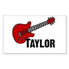 Guitar - Taylor Rectangle Decal