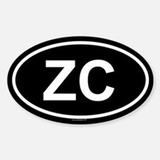 ZC Oval Decal