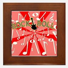 Rock And Roll Noise Framed Tile