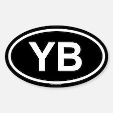YB Oval Decal