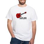 Guitar - Taylor White T-Shirt