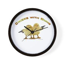Chick Wi' Guns Wall Clock