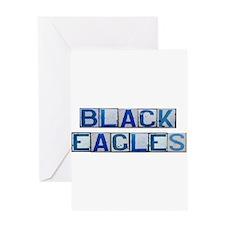 Black Eagles Greeting Card
