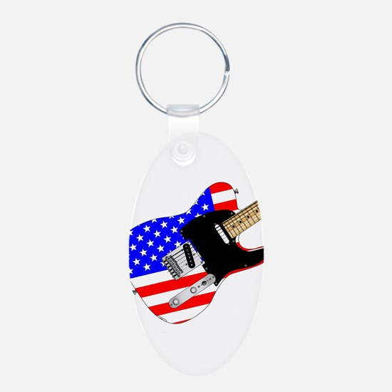 Stars And Stripes Elelctric Guitar Keychains