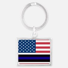 Police Blue Line Keychains
