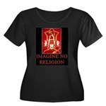 Imagine No Religion (Atheism) Plus Size T-Shirt