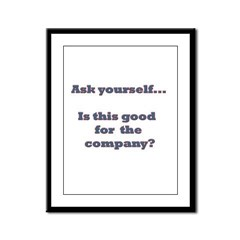 Ask yourself Framed Panel Print