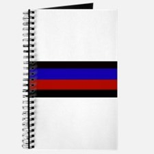 Police & Fire Blue & Red Lines Journal