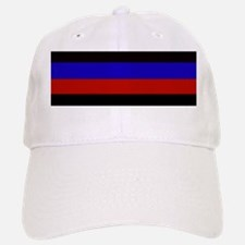 Police & Fire Blue & Red Lines Baseball Baseball Cap