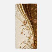 Elegant Floral Abstract Decorative Bei Beach Towel