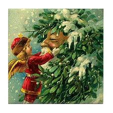 Christmas Santa Claus Art Tile Coaster