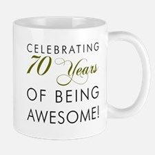 Celebrating 70 Years Glass Mugs
