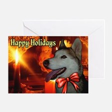 Siberian Husky Christmas Greeting Card