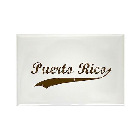 Vintage Puerto Rican Retro Rectangle Magnet