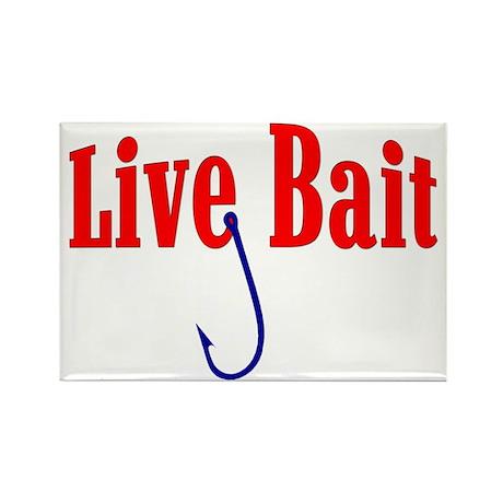 """Live Bait"" Rectangle Magnet"