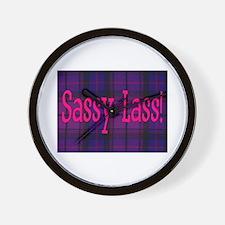 SASSY LASS! Wall Clock