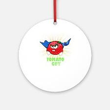 TOMATO GUY Round Ornament