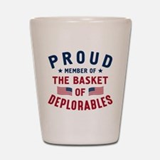 Proud Basket Of Deplorables Shot Glass