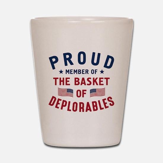 Proud Basket Of Deplorables Shot Glass