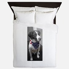Patriotic Bird Dog Queen Duvet