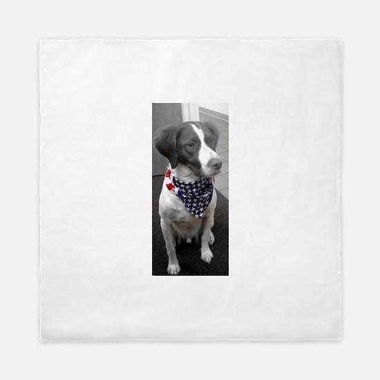 Patriotic Bird Dog Queen Duvet