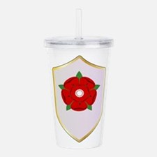 Lancastrian Red Rose S Acrylic Double-wall Tumbler
