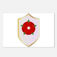 Lancastrian Red Rose Shie Postcards (Package of 8)