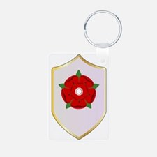 Lancastrian Red Rose Shield Keychains