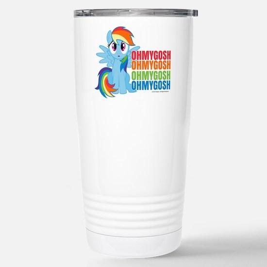 MLP Rainbow Dash OMG Stainless Steel Travel Mug