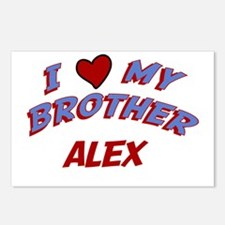 I Love My Brother Alex Postcards (Package of 8)