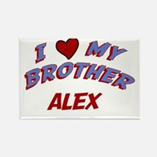 I Love My Brother Alex Rectangle Magnet