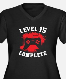 Level 15 Complete 15th Birthday Plus Size T-Shirt