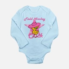 Field Hockey Chick #8 Long Sleeve Infant Bodysuit