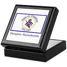 Plympton MA Flag Keepsake Box